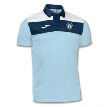 Carryduff AFC Crew S/S Polo - Sky Blue/White/Navy
